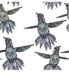 seamless pattern with hummingbird vector image