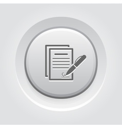 Signing Contract Icon Business Concept vector image