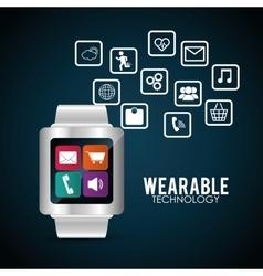 Smart watch wearable technology multimedia vector