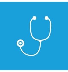 Stethoscope icon white vector