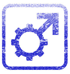 Technological potence framed textured icon vector