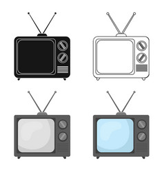 Television advertising icon in cartoon style vector