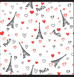 Travel france seamless pattern paris city vector