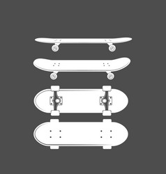 Vintage badges with skateboard vector