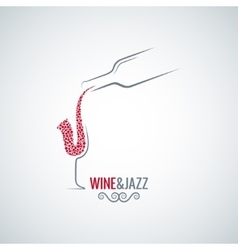 wine and jazz concept design background vector image vector image