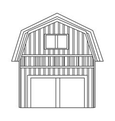 Wooden barn icon vector