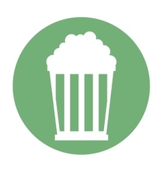 Pop corn pot icon vector