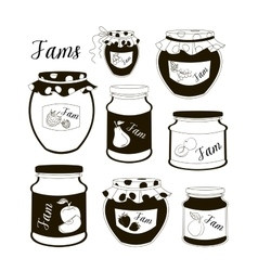Fruit jam set vector