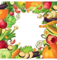 Vegetables circle concept vector