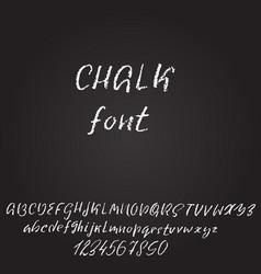 handwritten chalked font imitation texture vector image