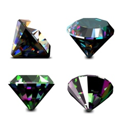 Set of jewelry gems vector