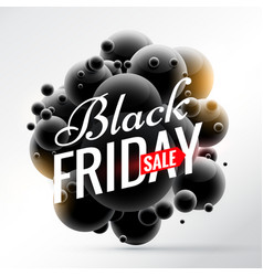 Black friday sale background with bunch of black vector