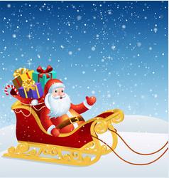santa claus in a sleigh vector image