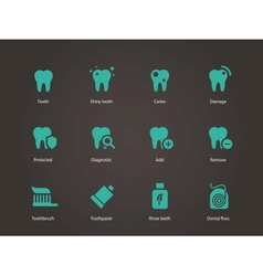 Teeth icons vector