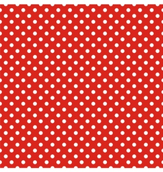Seamless pattern white polka dots red background vector image