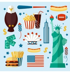 New york usa set vector