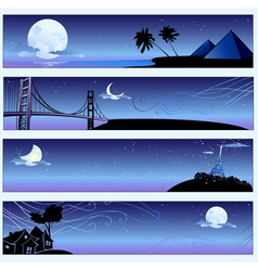 Romantic travel banners vector