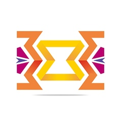 Logo abstract element arrow design symbol icon vector