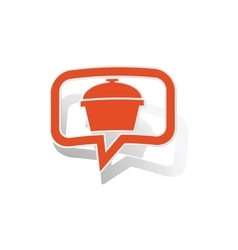 Pot message sticker orange vector
