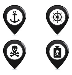 Pirate objects vector