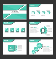 Shadow green presentation templates infographic vector