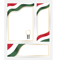Hungary flag banners set vector