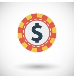 Gambling chips icon vector