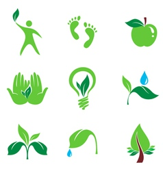 Nature set of symbols vector