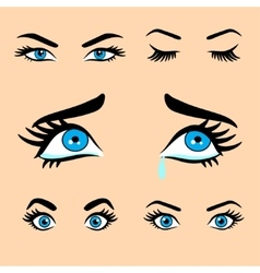 Women eyes expressions set 1 vector
