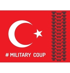 The military coup vector
