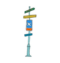 A guidepost stand on vector image vector image
