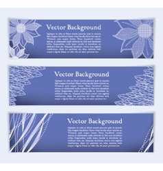 Banners with elegant lines and textures vector image vector image