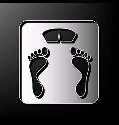 Bathroom scale sign gray 3d printed icon vector
