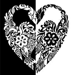 black and white swans from vector image vector image