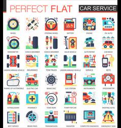 car service complex flat icon concept vector image vector image