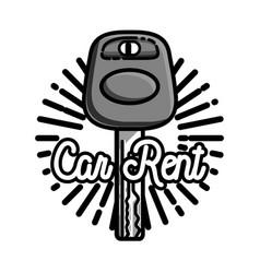color vintage car rent emblem vector image vector image