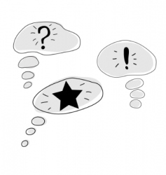 comics thought bubbles vector image vector image