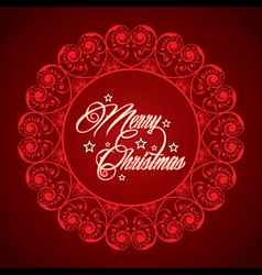 creative greeting card for marry christmas vector image