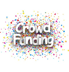Crowd funding paper card vector