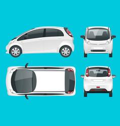 Electric vehicle or hybrid car eco-friendly hi vector