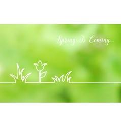 Floral line design vector image vector image