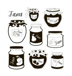 Fruit jam set vector