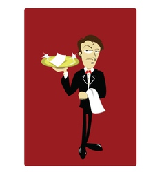 Funny waiter vector