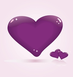 glossy hearts vector image vector image