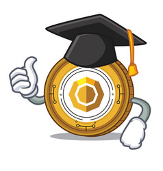 Graduation komodo coin character cartoon vector