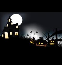 Halloween night vector image vector image
