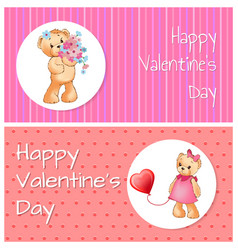happy valentine day collection vector image