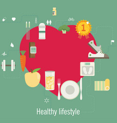 Health and sport lifestyle and info graphic vector