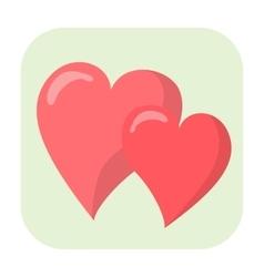 Hearts cartoon icon vector image