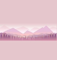 Morning in mountainsnature landcape vector